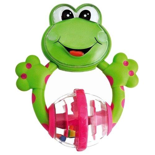 Купить Прорезыватель-погремушка Chicco Лягушка 71697 зеленый/розовый, Погремушки и прорезыватели