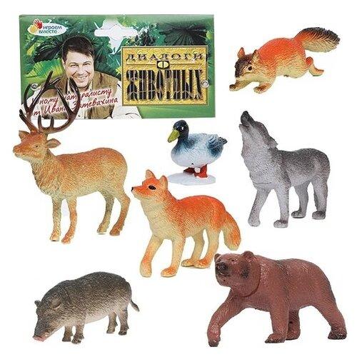 Купить Фигурки Играем вместе Диалоги о животных Дикие животные P0404-06A, Игровые наборы и фигурки