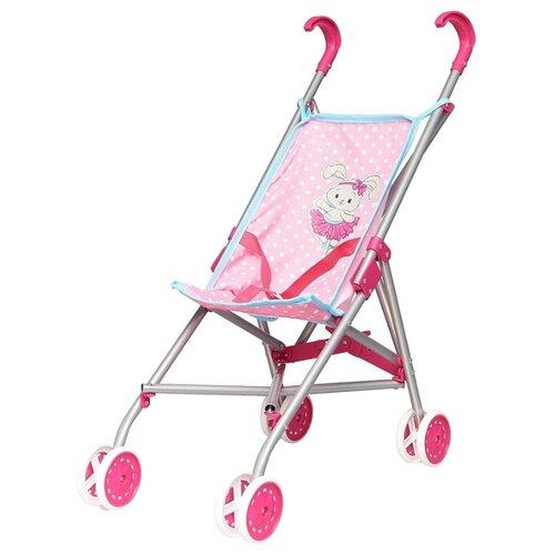 Фото - Прогулочная коляска Mary Poppins Зайка 67313 розовый/белый горох сумка бочонок mary poppins зайка 530035 пластик розовый голубой