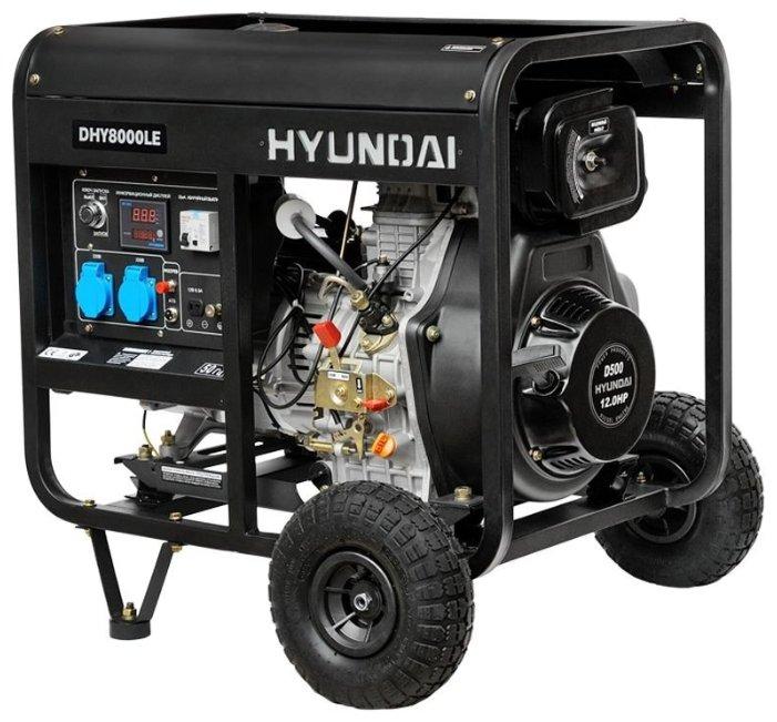 Дизельный генератор Hyundai DHY 8000 LE (6000
