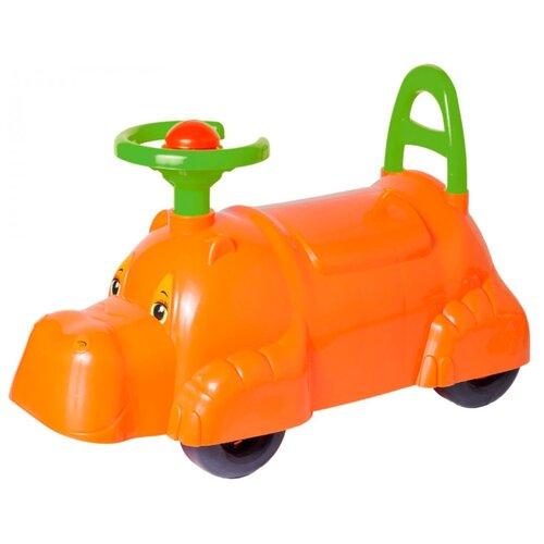 Купить Каталка-толокар ТехноК Автомобиль для прогулок (3664) со звуковыми эффектами оранжевый, Каталки и качалки