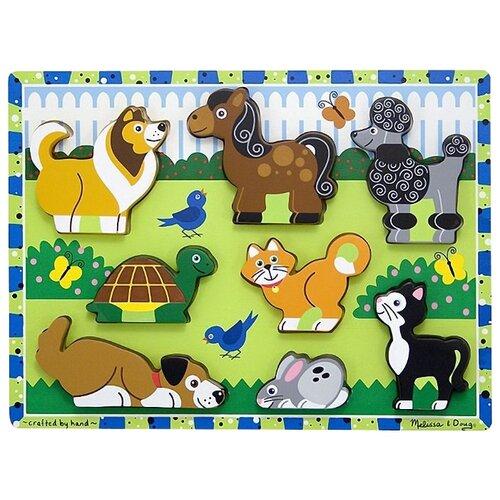 Купить Рамка-вкладыш Melissa & Doug Домашние животные (3724), 8 дет., Пазлы