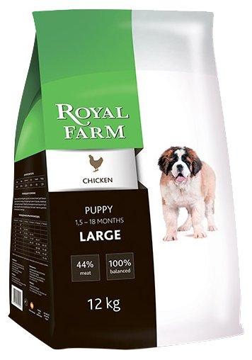 Royal Farm (12 кг) Сухой корм для собак Puppy Large Chicken
