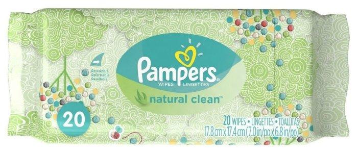 Влажные салфетки Pampers Natural Clean