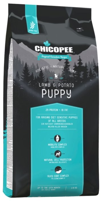 Корм для собак Chicopee Holistic Nature Line Puppy Lamb and Potato