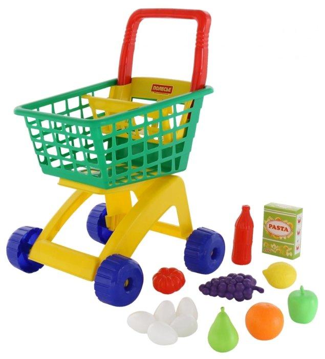 Тележка для покупок Полесье с продуктами (61928)