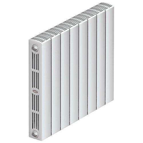 Радиатор секционный биметаллический Rifar SUPReMO 500 x12 теплоотдача 2424 Вт, 12 секций, подключение диагональное (подача справа) RAL 9016