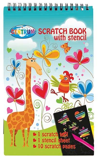 Гравюра CENTRUM Блокнот Giraffe (86855) цветная основа