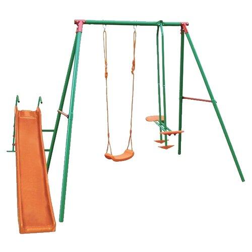 Купить Спортивно-игровой комплекс DFC MSN-02 зеленый/оранжевый, Игровые и спортивные комплексы и горки