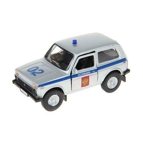 Легковой автомобиль Autogrand ВАЗ-2121 Нива полиция (37026) 1:36 серебристый/синий фото