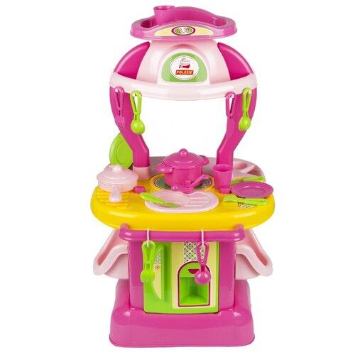 Купить Кухня Palau Toys Изящная №1 42583 розовый/желтый/зеленый, Детские кухни и бытовая техника