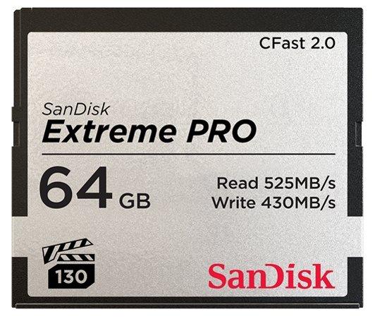 Карта памяти SanDisk Extreme PRO CFast 2.0 525MB/s 64GB