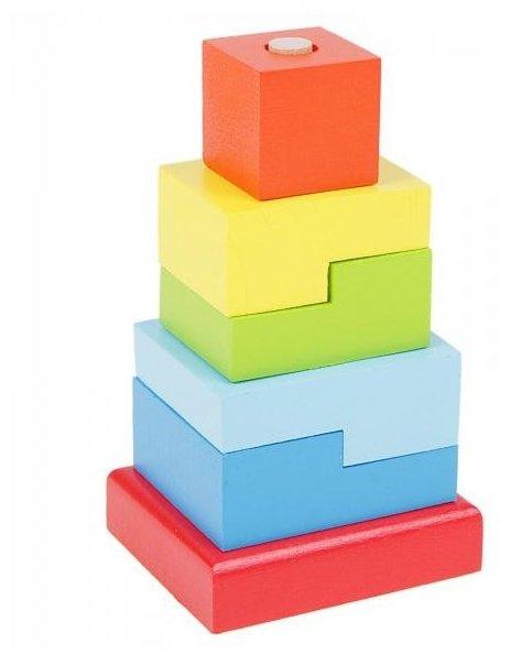 Пирамидка Alatoys Ступеньки, 6 деталей