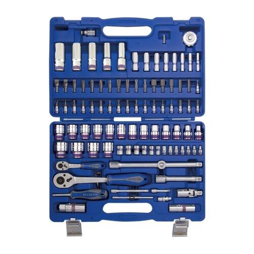 Фото - Набор автомобильных инструментов KING TONY 7596MR, 96 предм., синий набор автомобильных инструментов союз 1048 10 s58c 58 предм синий