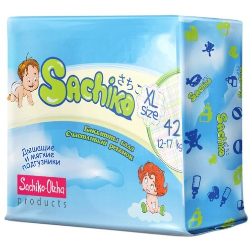 Sachiko подгузники XL (12-17 кг) 42 шт.Подгузники<br>