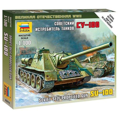 Сборная модель ZVEZDA Советский истребитель танков СУ-100 (6211) 1:100 сборная модель zvezda браво 2065 1 100