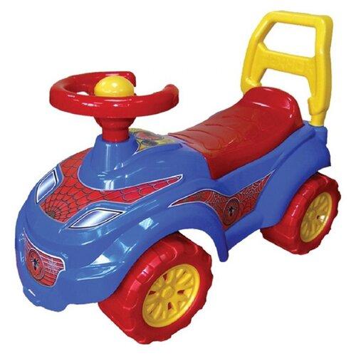 Фото - Каталка-толокар ТехноК Автомобиль для прогулок Спайдер (3077) со звуковыми эффектами красный/синий каталки технок автомобиль для прогулок т6665