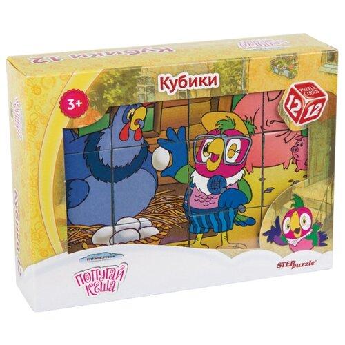 Купить Кубики-пазлы Step puzzle Попугай Кеша 87344, Детские кубики
