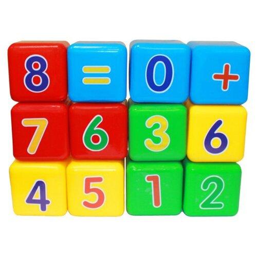 Кубики Пластмастер Первая математика 14046 кубики пластмастер набор 14047