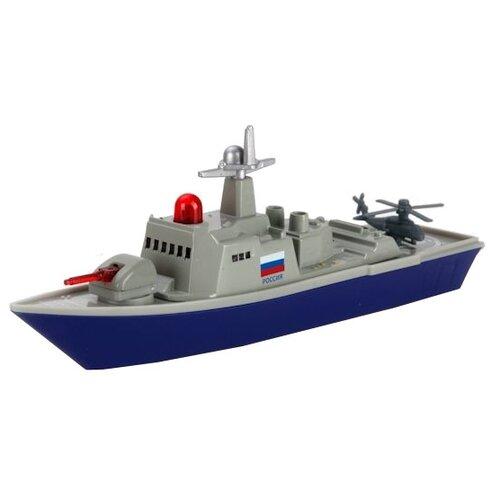 Купить Корабль ТЕХНОПАРК военный (SB-16-11-A) 25 см синий/серый, Машинки и техника