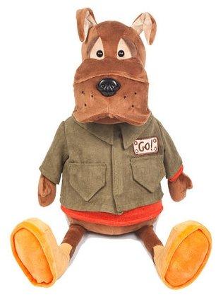 Мягкая игрушка Maxitoys Бульдог Рокки в куртке 28 см