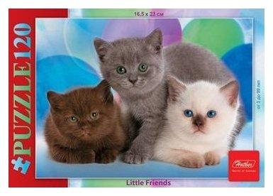 Пазл Hatber Little Friends Три котенка (120ПЗ5_07186), 120 дет.