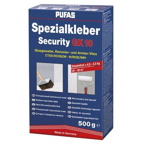 клей для обоев pufas gt vlies direkt 0 325 кг Клей для обоев PUFAS Security GK 10 для стекловолокна и флизелина 0.5 кг