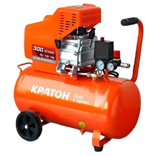 Компрессор масляный Кратон AC-300-40-DD, 40 л, 2 кВт компрессор масляный кратон ac 360 100 ddv 100 л 2 2 квт