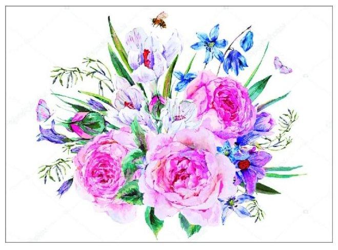 Цветной Набор алмазной вышивки Букет с пионами (LEP017) 30x40 см