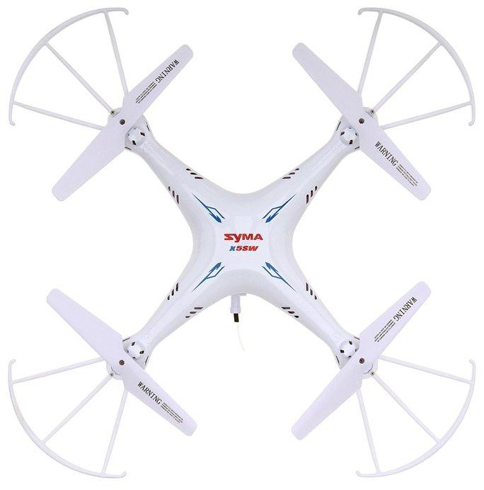 Квадрокоптер Syma X5SW белый фото 1