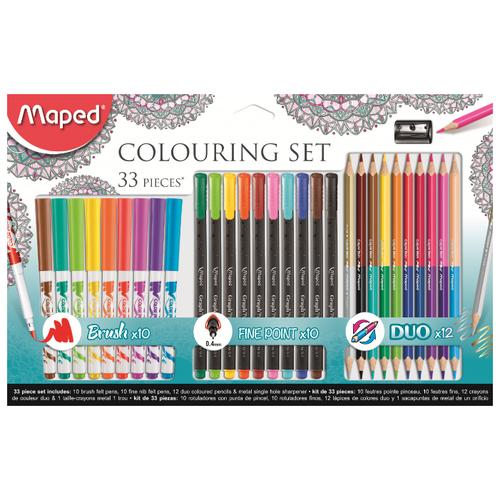 Купить Maped Colouring Set Набор для рисования 33 предмета (897417), Наборы для рисования
