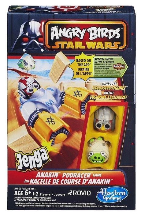 Настольная игра Hasbro games Angry Birds. Star Wars. Дженга Гонщики A4801