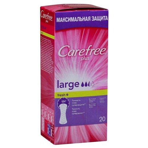 цена на Carefree прокладки ежедневные Plus Large Fresh 20 шт.