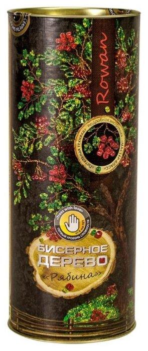Danko Toys Набор для бисероплетения Бисерное дерево. Рябина БД-03 зеленый/красный
