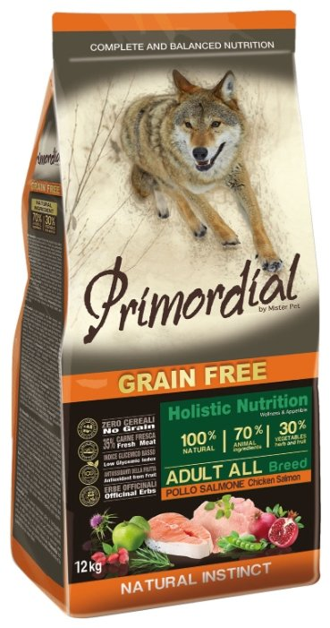Корм для собак Primordial Adult All Breed Курица, лосось