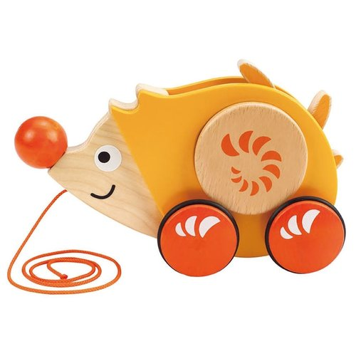 Каталка-игрушка Hape Walk-A-Long Hedhedog (E0350) желтый/оранжевый
