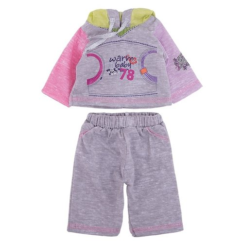 Купить Mary Poppins Спортивный костюм для кукол 42 см 452065 серый, Одежда для кукол