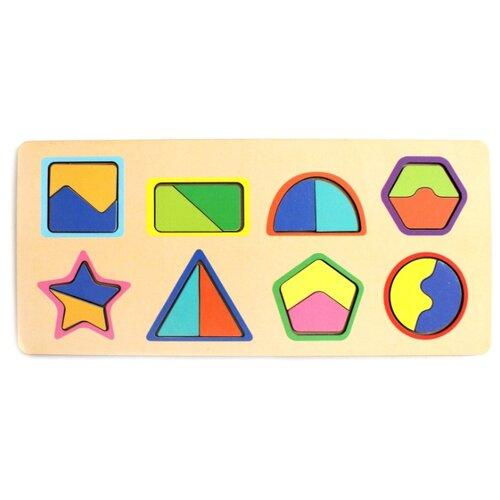 Рамка-вкладыш Мастер игрушек Цвета и фигуры (IG0078), 17 дет.