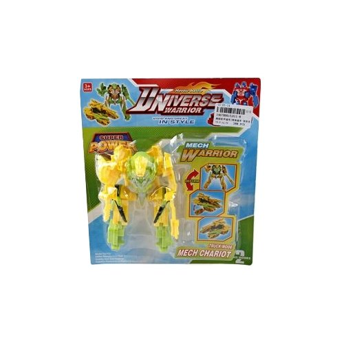 Трансформер Shantou Gepai Universe Warrior L011-8 желто-зеленый, Роботы и трансформеры  - купить со скидкой