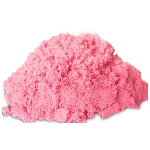 Кинетический песок LORI Домашняя песочница, розовый, 0.7 кг, пластиковый контейнер
