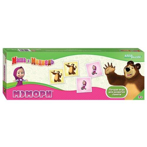 Купить Настольная игра Step puzzle Мэмори Маша и Медведь (Анимаккорд), Настольные игры