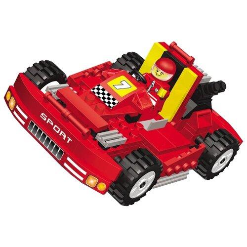 Конструктор Город Игр SuperBlock Большие гонки MF004797 Супер машина XL