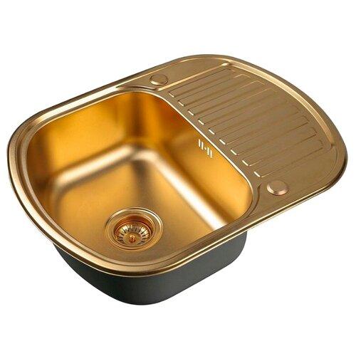 Фото - Врезная кухонная мойка 62 см ZorG PVD SZR-6249 BRONZE бронза врезная кухонная мойка 78 см zorg szr 78 2 51 r bronze бронза
