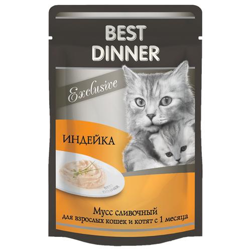 Корм для кошек Best Dinner (0.085 кг) 24 шт. Exclusive Мусс сливочный ИндейкаКорма для кошек<br>