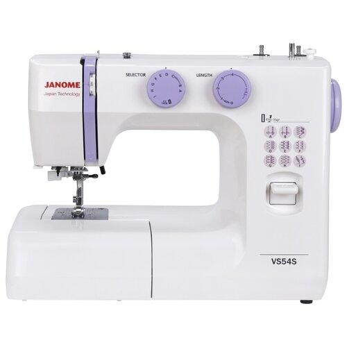 Швейная машина Janome VS 54S, бело-сиреневый швейная машина janome vs 54s бело сиреневый