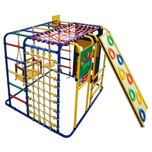 Купить Спортивно-игровой комплекс Формула здоровья Кубик-У Плюс синий/радуга, Игровые и спортивные комплексы и горки