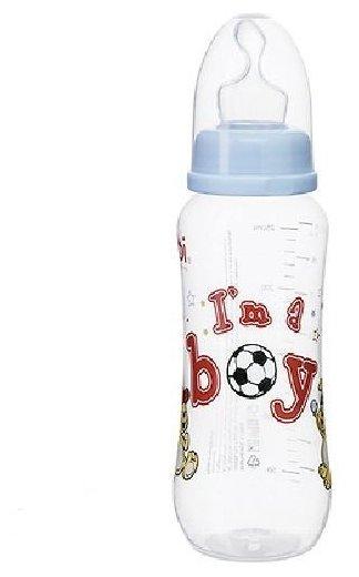 Bibi Бутылочка с ортодонтической соской I'm a boy, 250 мл с рождения
