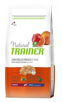 Корм для собак TRAINER Natural Adult Medium Chicken and rice dry