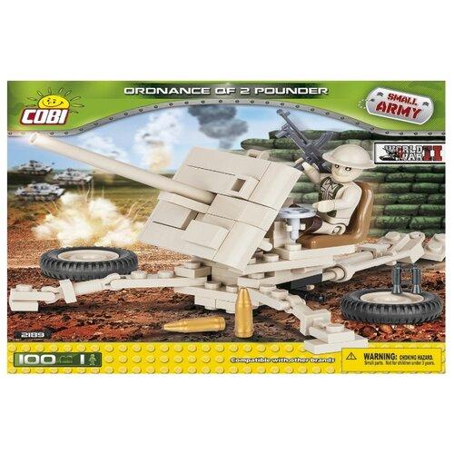 Конструктор Cobi Small Army World War II 2189 Зенитка Ordnance QF 2 Pounder