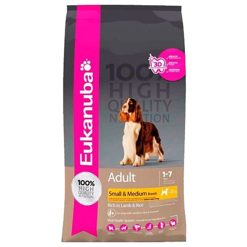 Eukanuba (1 кг) Adult Dry Dog Food For Small & Medium Breed Lamb & Rice Корма для собак